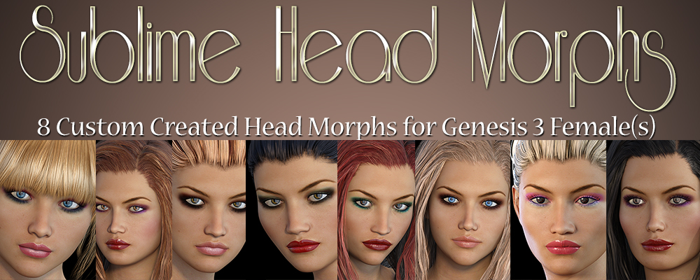 Sublime Head Morphs Genesis 3 Female(s)by3DSublimeProductions()