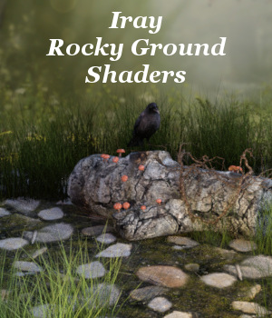 Iray Rocky Ground Shaders 3D Figure Essentials fictionalbookshelf