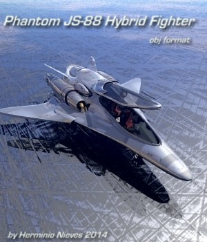Phantom JS-88 Hybrid Fighter 3D Models sevein