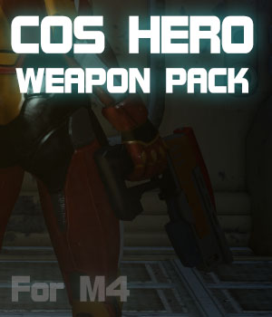 CosHero Weapon Pack for M4 3D Figure Essentials 3D Models JerryJang