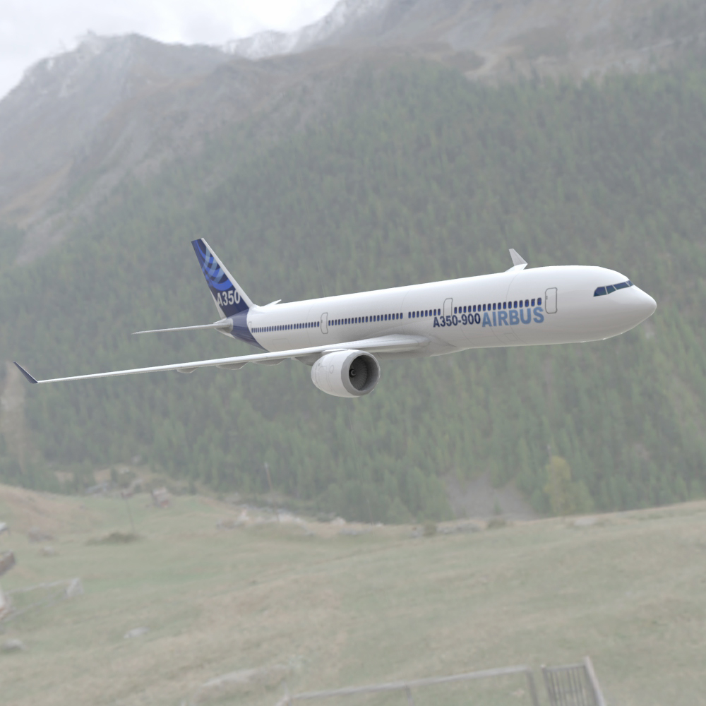 Airbus A-350-900  3ds and obj - Extended License