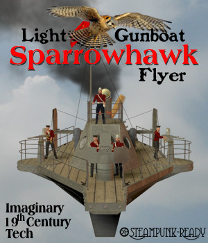 Sparrowhawk Light Gunboat Flyer 3D Models Michael_C