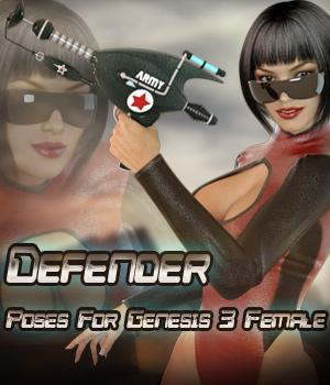 Defender For Genesis 3 Females 3D Figure Assets -dragonfly3d-
