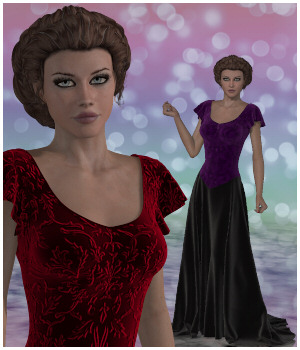 Dynamics 07 - Loveit Dress for Victoria 4 3D Figure Assets Lully