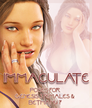 Immaculate For Genesis 3 & Bethany 7 3D Figure Assets -dragonfly3d-
