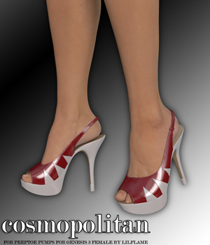 COSMOPOLITAN - Peeptoe Pumps for Genesis 3 Females 3D Figure Assets Anagord