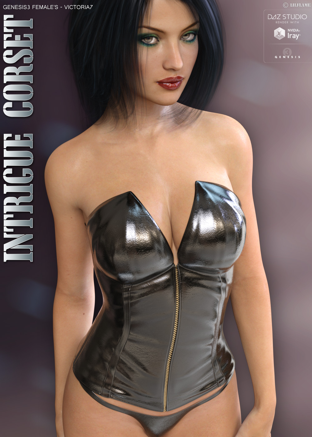 Intrigue Corset for Genesis 3 Females by lilflame