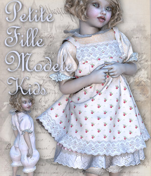 Petite Fille Modele for The Kids 4 3D Figure Assets Tipol