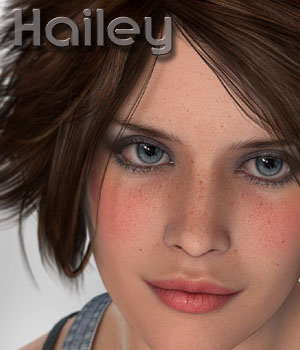 MDD Hailey for V4.2 3D Figure Assets Maddelirium