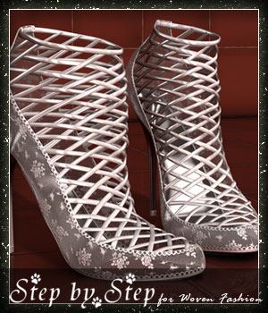 Step by Step: Woven Fashion Shoes 3D Figure Essentials sandra_bonello