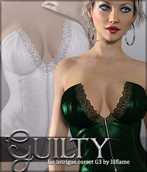 Guilty for Intrigue Corset G3 3D Figure Assets Sveva