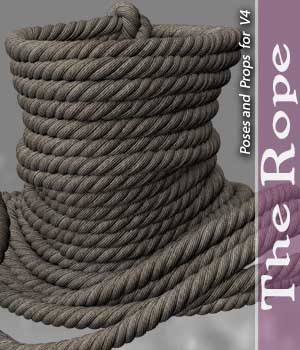 The Rope for V4 3D Figure Assets halcyone