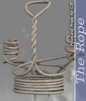 The Rope For G3F 3D Figure Essentials halcyone
