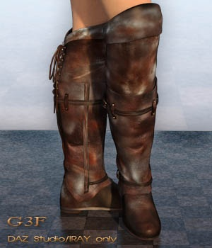 Laced Fantasy Boots G3F 3D Figure Essentials nirvy