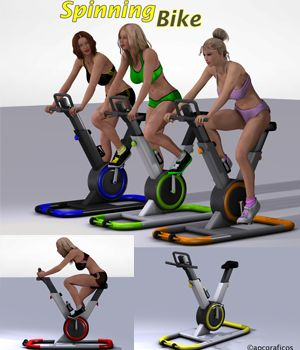 Spinning Bike 3D Figure Essentials 3D Models apcgraficos