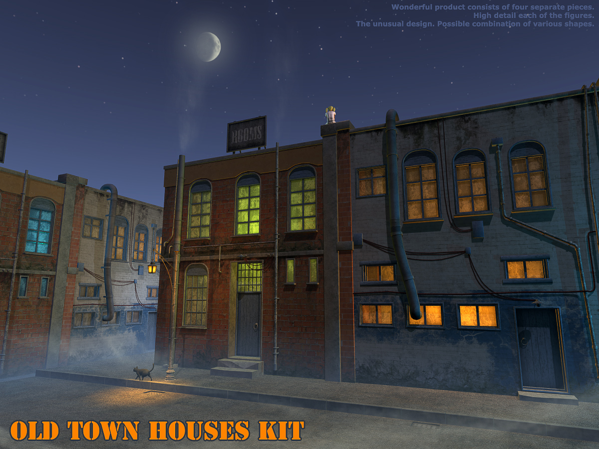Old town houses kit
