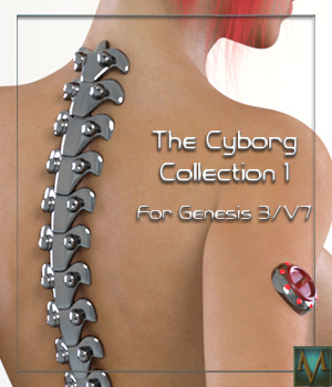 The Cyborg Collection for G3F and V7 3D Figure Essentials Mihrelle