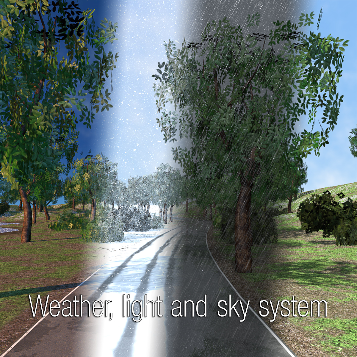 Weather, light and sky system