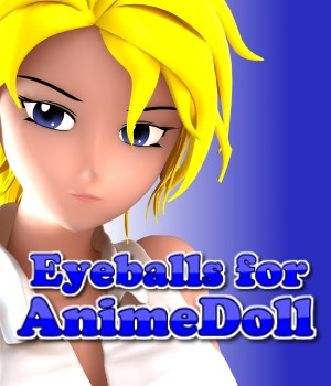 Eyeballs for AnimeDoll 3D Figure Assets 3doutlaw