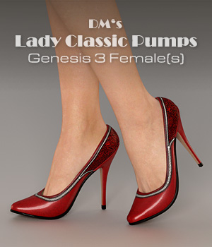 DMs Lady Classic Pumps 3D Figure Assets DM