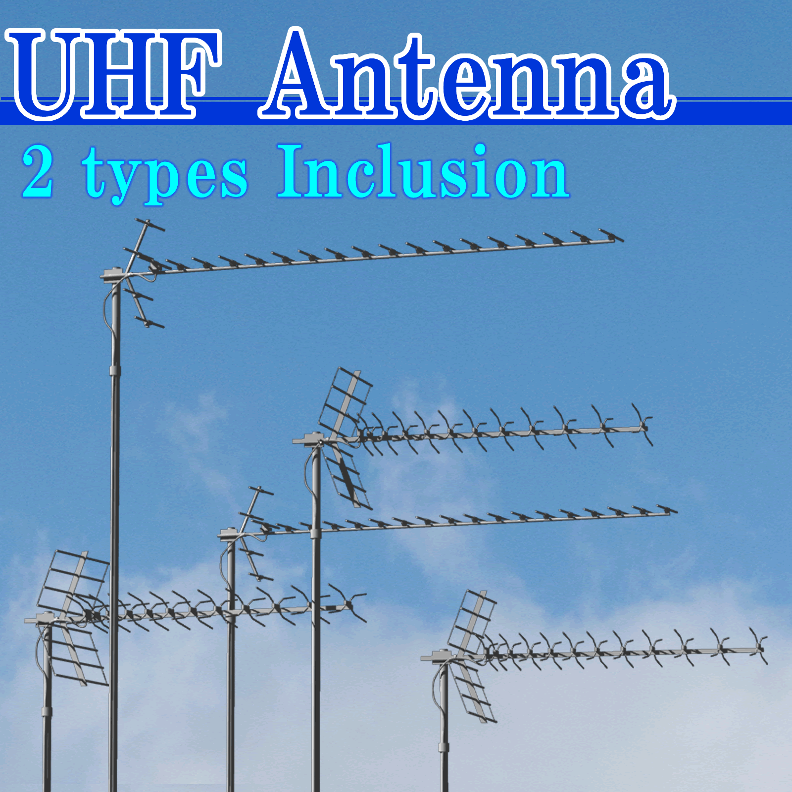 UHF Antenna 2 types Inclusion(OBJ)By x7
