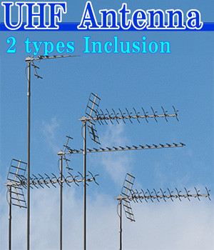 UHF Antenna 2 types Inclusion(OBJ)By x7 3D Models x7