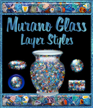 Murano Glass Layer Styles 2D Graphics Merchant Resources fractalartist01