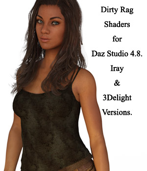 Dirty Rag Shaders For Daz Studio 4.8 (Merchant Resource) 3D Figure Essentials Merchant Resources fictionalbookshelf