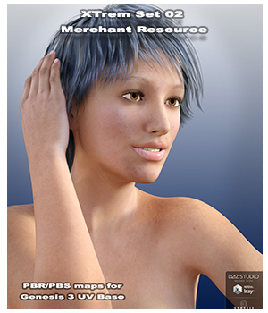 Xtrem Ser 02 Merchant Resource for Genesis 3 Female 2D Graphics Merchant Resources fly028