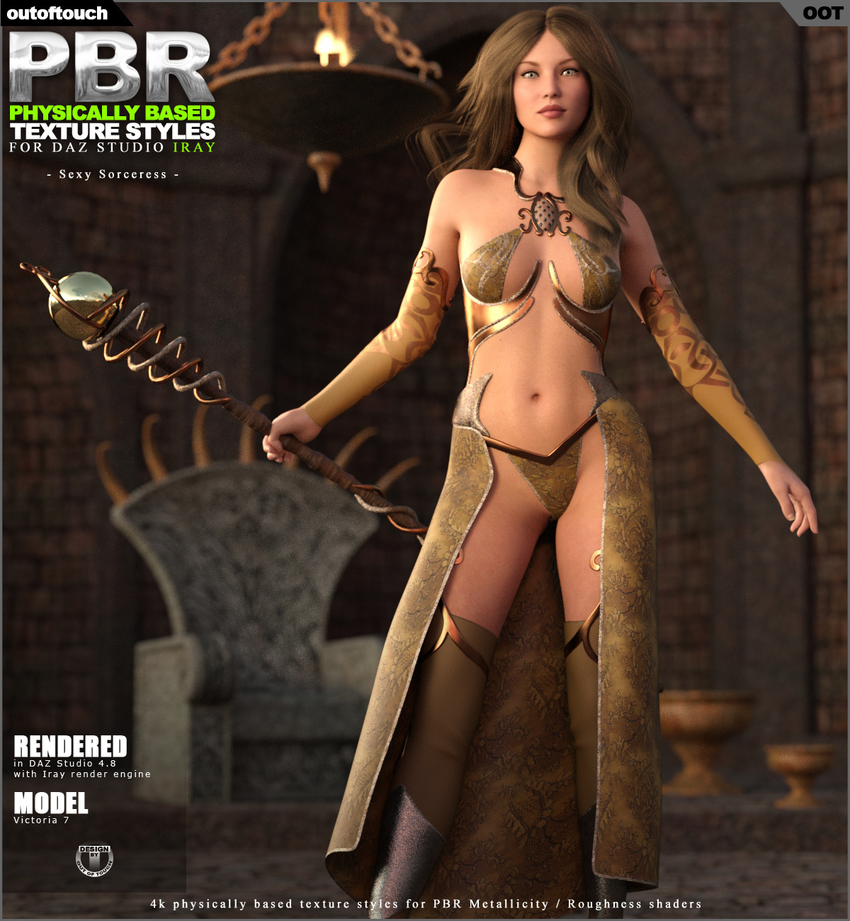 3D Sexy Game oot pbr texture styles for sexy sorceress 3d figure assets