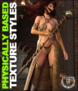 OOT PBR Texture Styles for Sexy Sorceress 3D Figure Essentials outoftouch