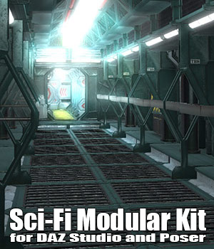 SciFi Modular Kit for DAZ Studio and Poser 3D Models ile-avalon