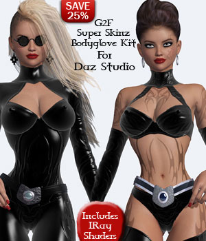 B#1 Madam O Super Skinz Bodygloves Kit 3D Figure Essentials lululee