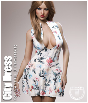 City Dress for Genesis 3 Female(s) 3D Figure Essentials outoftouch