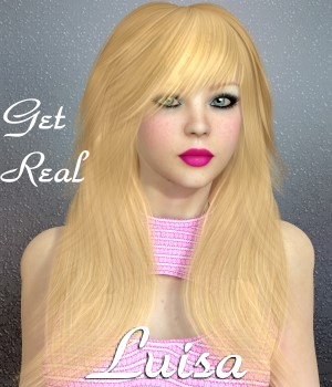 Get Real for Luisa hair 3D Figure Assets chrislenn
