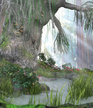 Fairie Pond Set (Poser, Obj & DS) 3D Models RPublishing