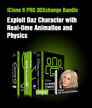 iClone 3DXchange 6 PRO Bundle 3D Software : Poser : Daz Studio