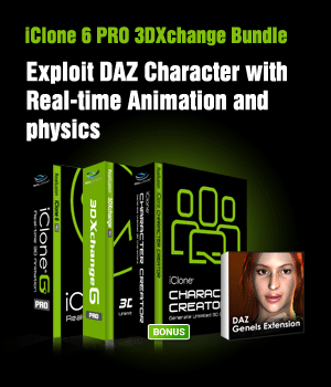 iClone 3DXchange 6 PRO Bundle Software Reallusion