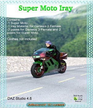 Super Moto Iray 3D Models 3D Figure Essentials JeffersonAF