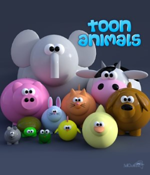 Toon Animals 3D Figure Assets 3doutlaw