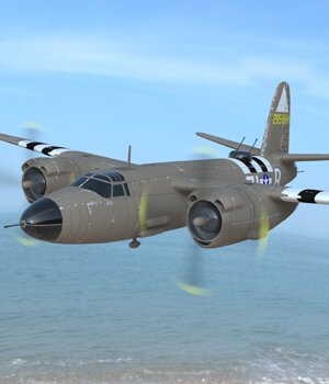B-26 Marauder (for Poser) 3D Models VanishingPoint