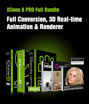 iClone 6 Full Bundle Software Reallusion