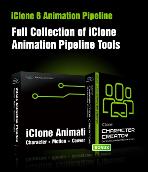 iClone 6 Animation Pipeline (3-in-1) Software Reallusion