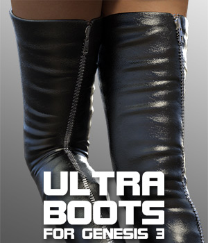 Ultra Boots for G3 female(s) 3D Figure Assets powerage
