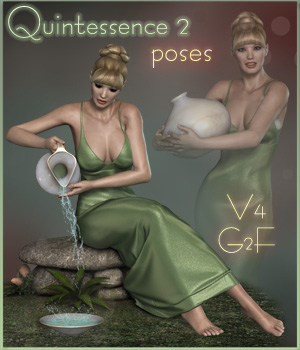 Quintessence 2 Poses - V4 / G2F-V6 3D Figure Essentials ilona