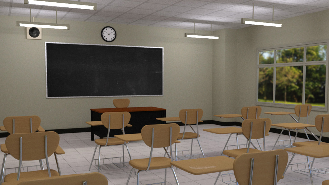 Modern classroom 3d models rpublishing for Room modeling software