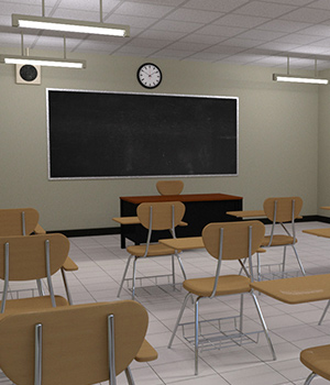 Modern Classroom 3D Models RPublishing