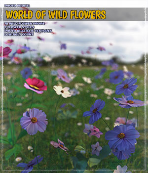Photo Plants: World of Wildflowers 3D Models ShaaraMuse3D
