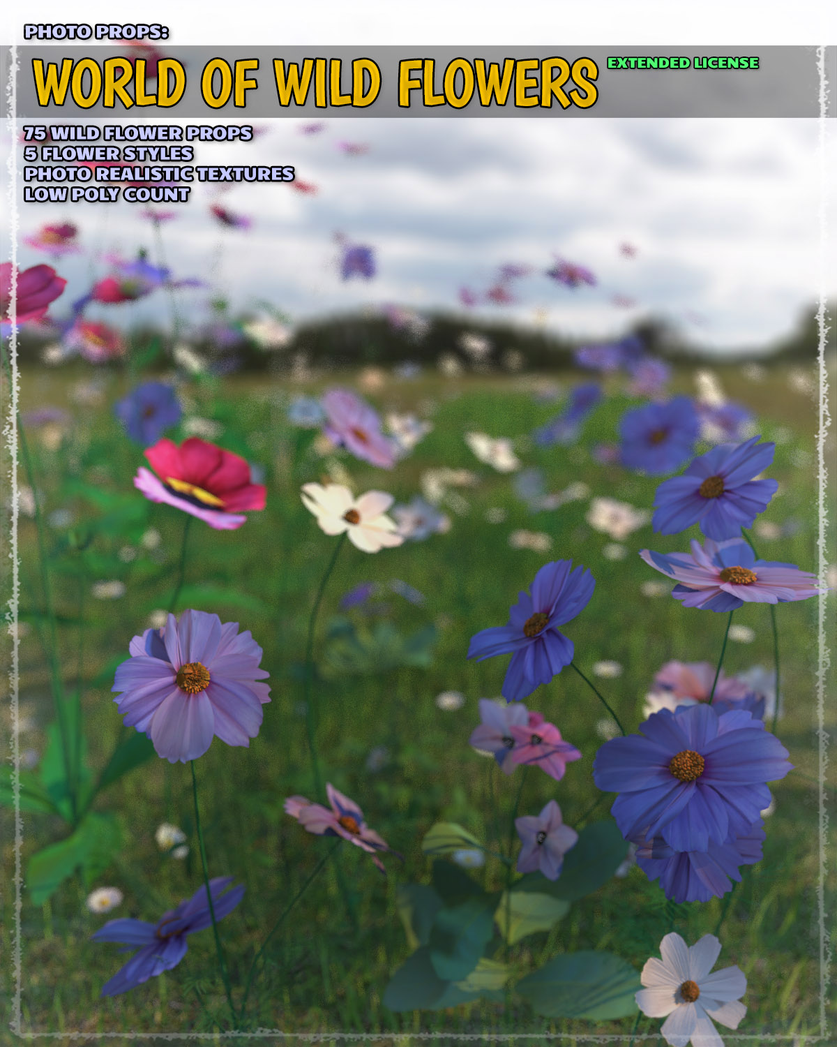 Photo Plants: World of Wildflowers - Extended License by ShaaraMuse3D