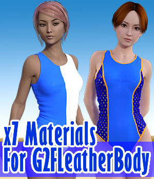 x7 Materials For G2F Leather Body 3D Figure Assets x7
